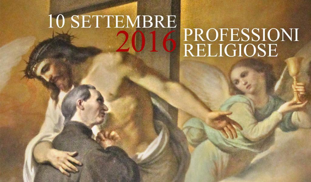 10 settembre – Professione religiosa dei novizi