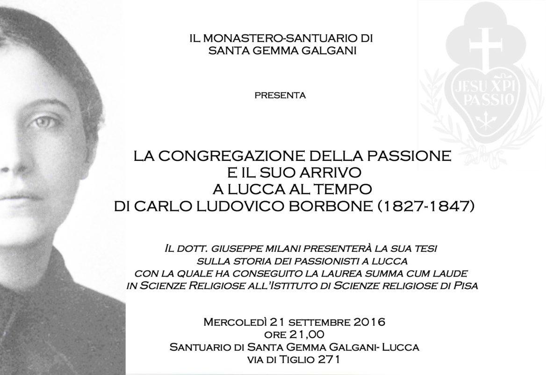 La storia dei passionisti a Lucca