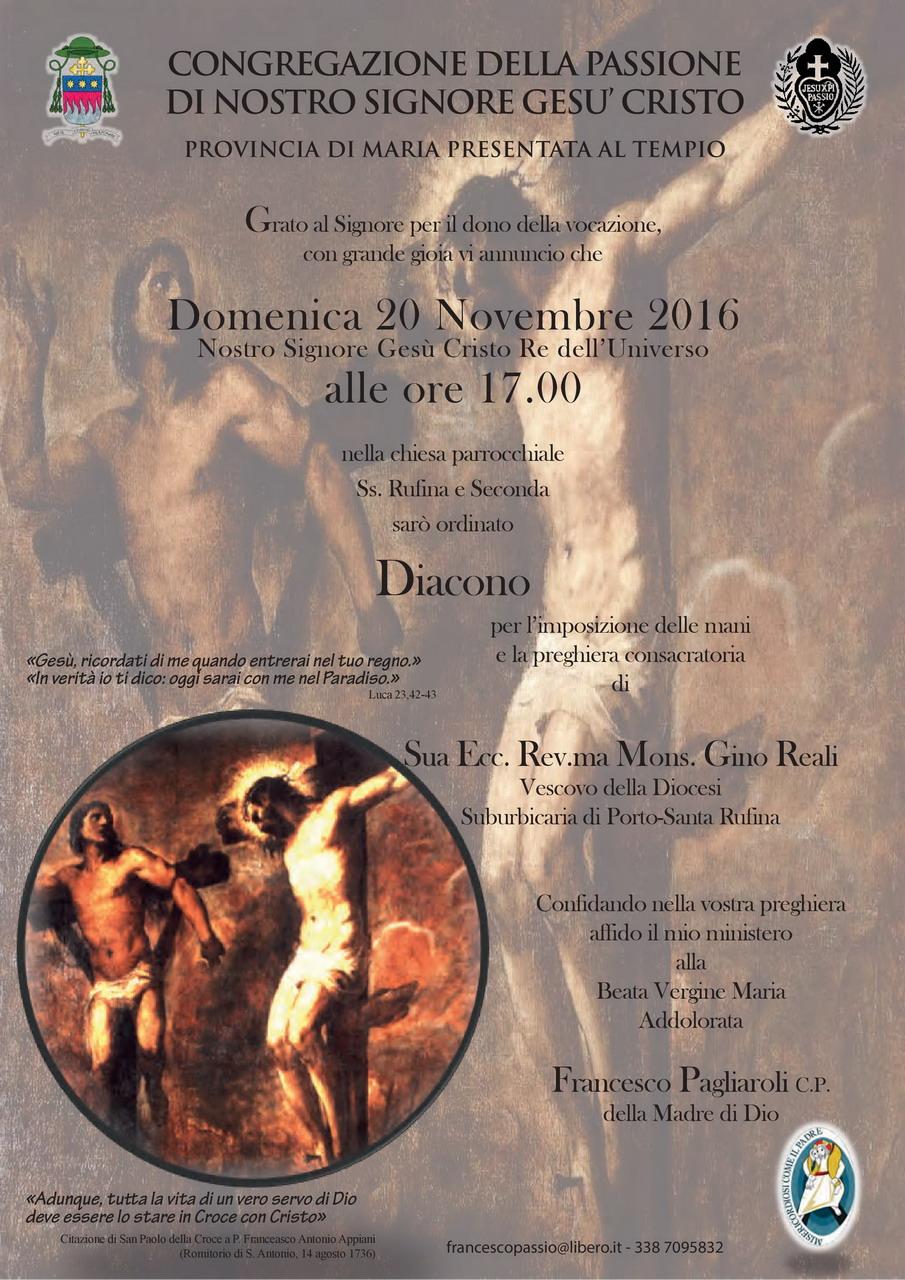 Ordinazione Diaconale di confr. Francesco Pagliaroli