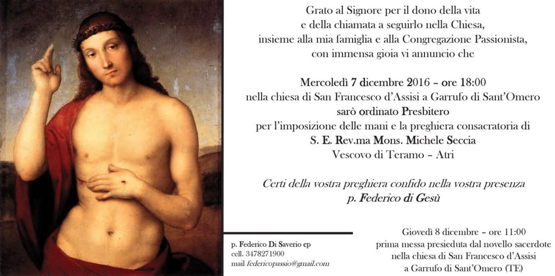 Ordinazione Presbiterale di P. Federico Di Saverio