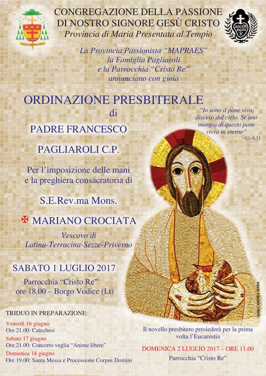 Ordinazione Presbiterale di p. Francesco Pagliaroli