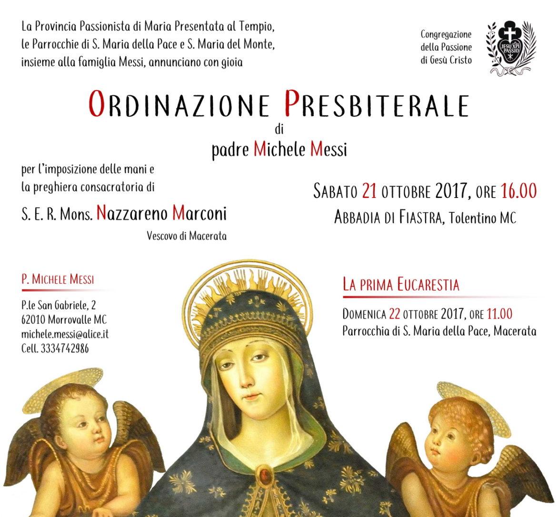 Ordinazione Presbiterale di padre Michele Messi
