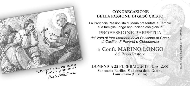 Professione Perpetua Conf. Marino Longo