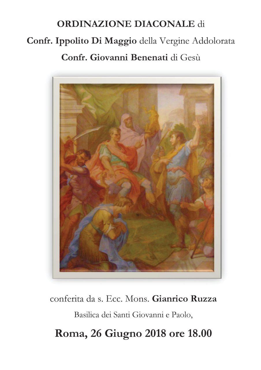 Ordinazione diaconale confr. Ippolito di Maggio e Giovanni Benenati