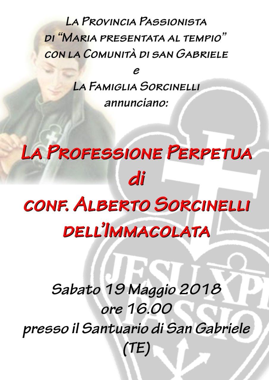 Professione Perpetua confr. Alberto Sorcinelli
