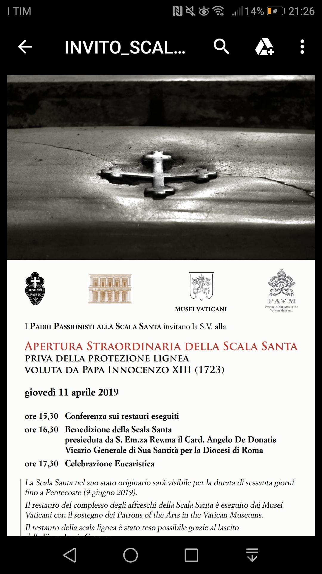 Invito alla Scala Santa