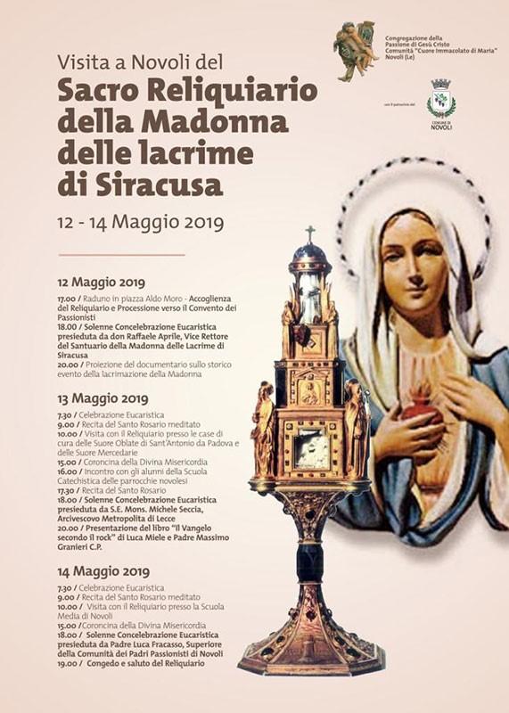 Reliquiario Madonna delle Lacrime a Novoli (LE)