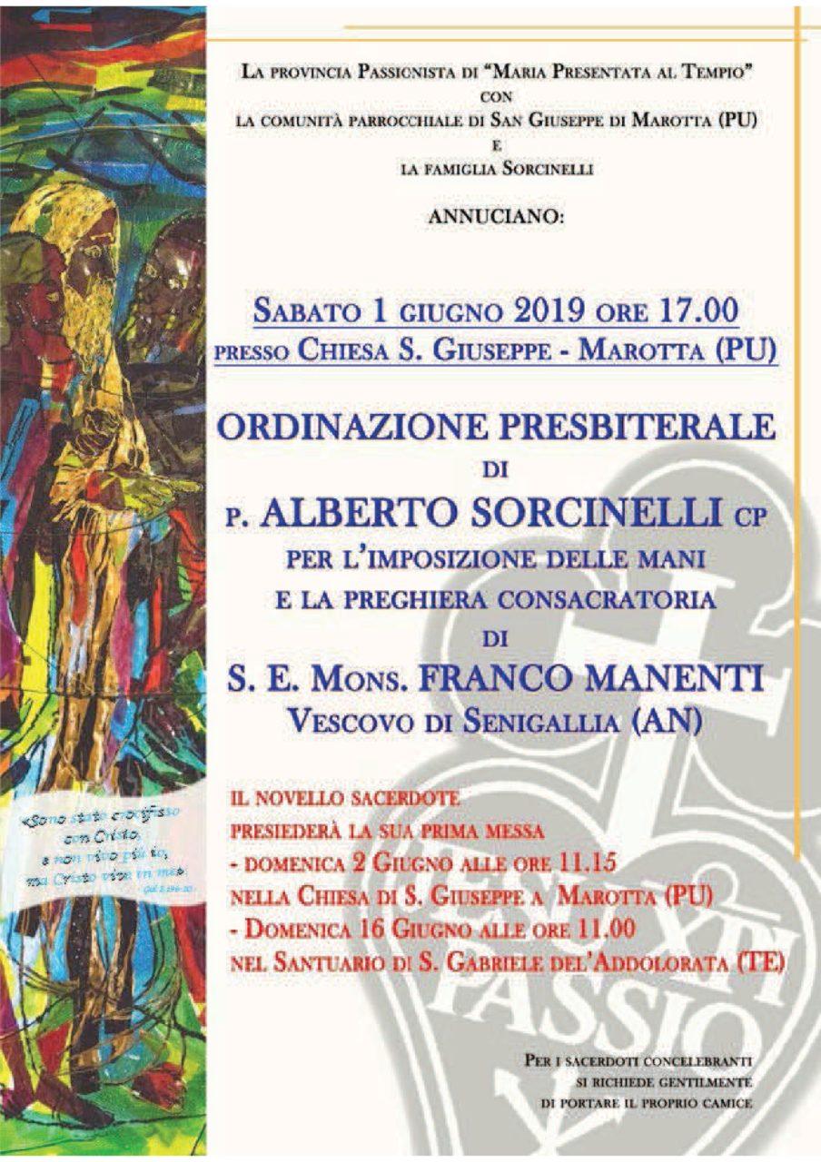Ordinazione Presbiterale di p. Alberto Sorcinelli
