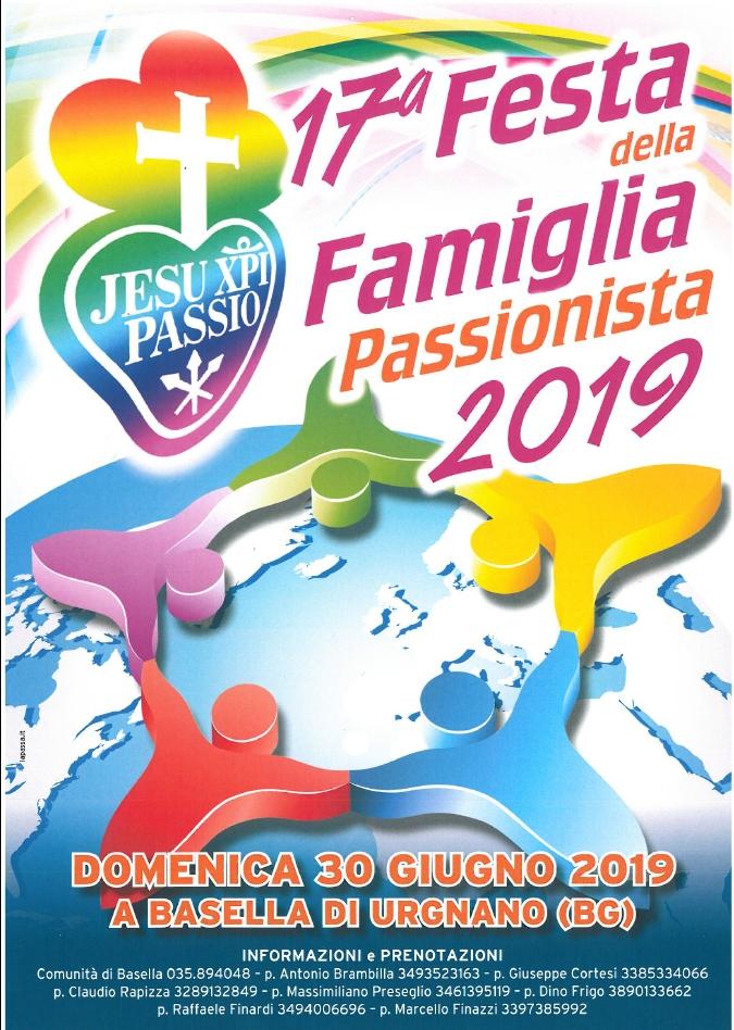 FESTA DELLA FAMIGLIA PASSIONISTA 2019