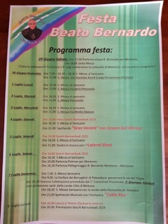 Festa del Beato Bernardo
