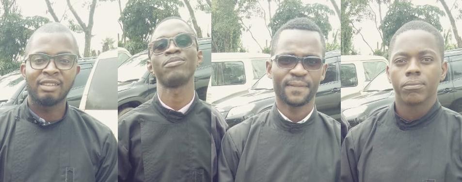 Vestizione di 4 nuovi novizi dell'Angola.